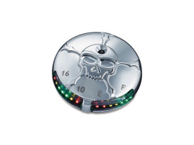 LED Zombie Fuel/Volt Gauge - Chrome.