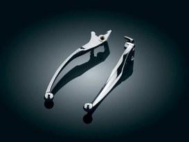 Wide Style Levers with Chrome Finish. Fits Yamaha V-Star XVS650 1998-2016 & V-Star 1100 Custom 1999-2009 Models.