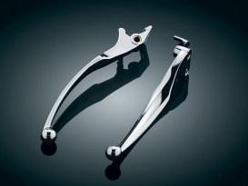 Wide Style Levers - Chrome. Fits Kawasaki & Suzuki.