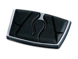 Flame Brake Pedal Pad - Chrome. Fits FLH & FLST.