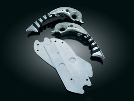 Flip Blades with Chrome Finish. Fits Swept Wing Floorboards.