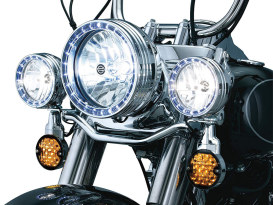 7in. LED Halo Headlight Trim Ring - Chrome. Fits FL Softail 1994-2017.