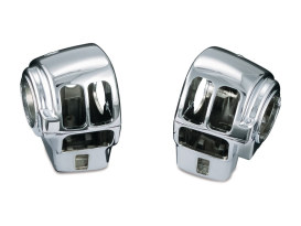 Switch Housing Covers - Chrome. Fits Touring 1996-2013 with Radio & without Cruise Control.