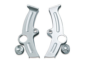 Boomerang Frame Covers - Chrome. Fits Softail 2000-2007.