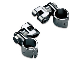 Footpeg Mounts with 1-1/4in. Magnum Quick Clamp - Chrome.