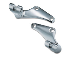 Rear High Style Footpeg Mounts - Chrome. Fits Softail 1986-2007.