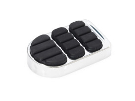 ISO Brake Pedal Pad - Chrome. Fits FXST, FXDWG & Street.