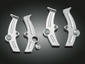 Boomerang Frame Covers - Chrome. Fits Softail 1986-1999.