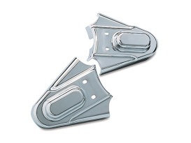 Rear Phantom Axle Covers with Chrome Finish. Fits Softail 1986-2007.