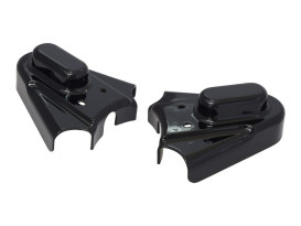 Rear Phantom Axle Covers with Black Finish. Fits Softail 1986-2007.