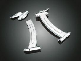 Boomerang Frame Covers - Chrome. Fits Yamaha V-Star XVS650.