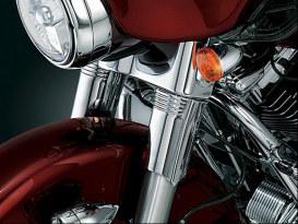 Upper Slider Covers - Chrome. Fits Touring 1996-2013.