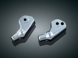 Rear Tapered Footpeg Mounts - Chrome. Fits Honda F6B 2013-2016.