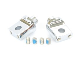 Non-Pivoting Splined Adapter - Chrome. Fits ISO Boards in Place of HD Style Male Peg.