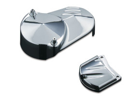 Solenoid Cover - Chrome. Fits Big Twin 1990-2006, 1200 Sportster 1991up & 883 Sportster 1995up.