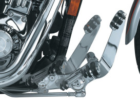 Extended Length Forward Controls - Chrome. Fits Dyna 1991-2017.