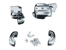 Brake & Clutch Control Dress-Up Kit - Chrome. Fits H-D 1996-2017 Models with Single Front Disc Rotors.