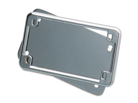 Number Plate Frame with 4in. x 7in. Backing Plate - Chrome.