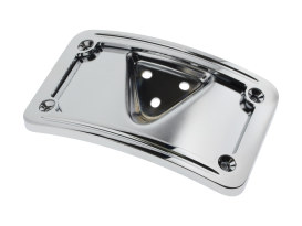 Laydown Curved Number Plate Frame with Mount - Chrome.