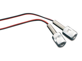 LED Number Plate Bolt Lights - Chrome.