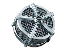 Hi-Five Mach 2 Air Cleaner Kit - Chrome. Fits Big Twins 1999-2017 with CV Carb or Cable Operated Delphi EFI.