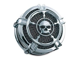 Hi-Five Mach 2 Zombie Air Cleaner Kit - Chrome. Fits Big Twins 1999-2017 with CV Carb or Cable Operated Delphi EFI.