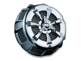 Alley Cat Air Filter Assembly with Chrome Finish. Fits Yamaha V-Star XVS650 1998up.