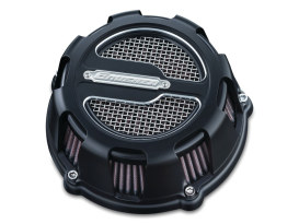 Maverick Air Filter Assembly with Black Finish. Fits Sportster 2007up.