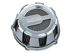 Maverick Air Filter Assembly - Chrome. Fits Twin Cam 1999-2006 with CV Carburettor & Twin Cam 2001-2017 with Delphi EFI & Cable Operated Throttle.