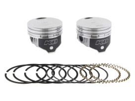 +.010in. Flat Top Pistons with 8.6:1 Compression Ratio. Fits Big Twin 1984-1999 with Evo Engine.