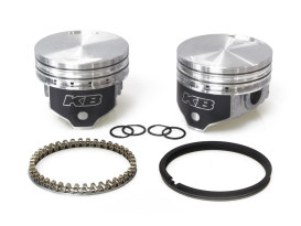 +.020in. Flat Top Pistons with 8.6:1 Compression Ratio. Fits Big Twin 1984-1999 with Evo Engine.