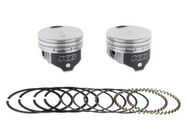 +.030in. Flat Top Pistons with 8.6:1 Compression Ratio. Fits Big Twin 1984-1999 with Evo Engine.