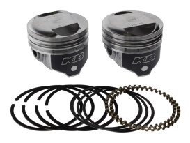 +.020in. Dome Top Pistons with 10.5:1 Compression Ratio. Fits Big Twin 1984-1999 with Evo Engine.