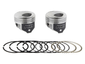 Std Dome Top Pistons with 8.3:1 Compression Ratio. Fits Big Twin 1978-1984 with 1340cc Shovel Engine.
