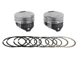 +.005in. Dome Top Pistons with 9.6:1 Compression Ratio. Fits Big Twin 1984-1999 with Evo Engine.