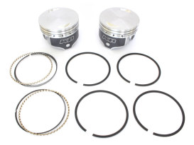 Std Flat Top Pistons with 8.8:1 Compression Ratio. Fits Big Twin 1984-1999 with 88