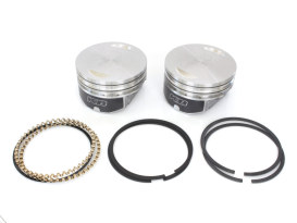 Std Flat Top Pistons with 9.3:1 Compression Ratio. Fits Twin Cam 1999-2006 with Big Bore 88ci to 95ci Conversion.
