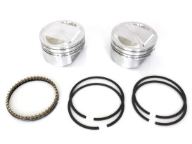 +.005in. Dome Top Pistons with 10.5:1 Compression Ratio. Fits Twin Cam 1999-2006 with Big Bore 88ci to 95ci Conversion.</P><P>