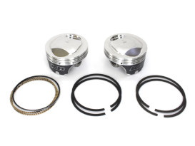 +.010in. Dome Top Pistons with 10.5:1 Compression Ratio. Fits Twin Cam 1999-2006 88ci to 95ci Conversion.