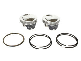 Std Dome Top Pistons with 10.5:1 Compression Ratio. Fits Twin Cam 1999-2006 88ci to 95ci Conversion.