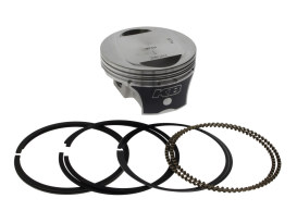 Std Flat Top Pistons with 10.0:1 Compression Ratio. Fits Twin Cam 2007-2017 with 103ci Engine & also Converts Twin Cam 2007-2017 96ci Engine to 103ci.