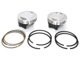 Std Flat Top Pistons with 10.5:1 Compression Ratio. Fits CVO Twin Cam 2007up with 110ci Engine.