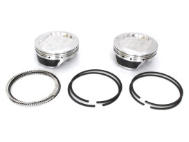 +.005in. Flat Top Pistons with 9.5:1 Compression Ratio. Fits Twin Cam 2007up with Big Bore Screamin' Eagle 117ci Kit.</P><P>