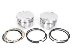 +.020in. Dish Top Pistons with 8.5:1 Compression Ratio. Fits Big Twin 1984-1999.