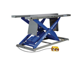 MC625R Bike Lift with Lifting Capacity of 1750 lbs & 29.5in. x 86.5in. Deck - Blue.