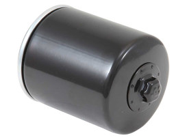 Oil Filter with Black Finish. Fits Twin Cam 1999-2017 & Milwaukee-Eight 2017up Models.