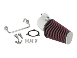 Aircharger Air Filter Assembly with Polished Finish. Fits Twin Cam 2008-2017 with Throttle-by-Wire & Twin Cam 2006-2017 with Screaming Eagle 58mm Throttle Body Upgrade.