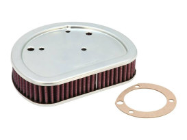 Air Filter Element; Twin Cam with OEM Round Air Cleaner Cover.