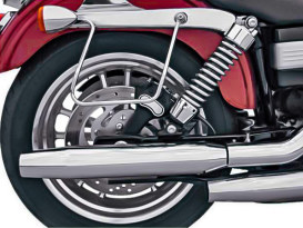 3in. HP-Plus Shorty Tapered Slip-On Mufflers - Chrome. Fits Dyna 1995-2017.