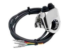 Handlebar Control Switch - Chrome. Fits 1in. or 1-1/4in. Bars Running Air Suspension.